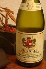 Chablis ですよ!これはマジうまい。キリリとした酸味がソテーのふんわり感と見事に調和!